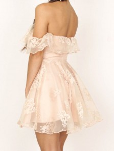 Princess Off the shoulder Ruffle Short Homecoming Dress Party Dress