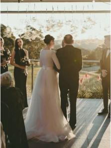 Elegant A-Line Long Sleeves Round Neck White Tulle Satin Wedding Dresses
