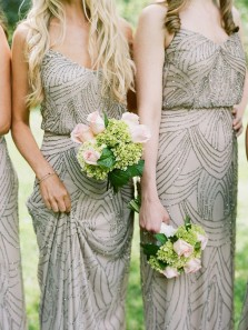 Elegant Column V Neck Spaghetti Straps Chiffon Long Bridesmaid Dress with Beading BD0702002