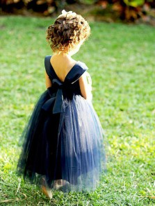 Cute Tutu Dress, Sweetheart Purple Tulle Flower Girl Dress with Bow