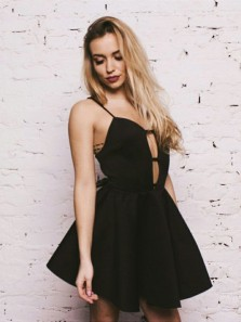 Simple Sweetheart Black Satin Short Homecoming Dress, Sexy Short Prom Dress Under 100