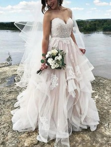 Charming Ball Gown Sweetheart Tulle/Lace Wedding Dresses