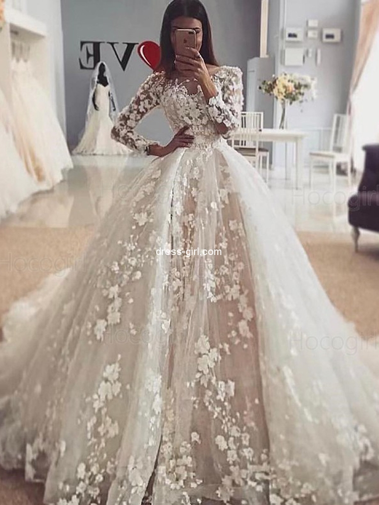 Romantic Wedding Dresses With Sleeves Off 79 Quality Assurance