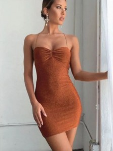 Sexy Body con Sweetheart Open Back Spaghetti Straps Mini Prom Dresses,Sparkly Evening Party Dresses Under 100