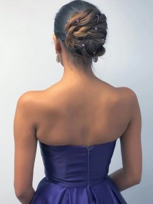 Unique A-Line Sweetheart Open Back Gradient Color Satin Long Prom Dresses,2020 Evening Party Dresses