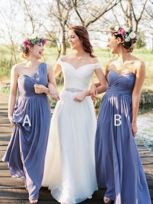 Exquisite A-Line Sweetheart Backless Floor Length Lavender Bridesmaid Dress with Pleated