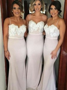 Mermaid Off-the-Shoulder Sweep Train Pink Bridesmaid Dress with Appliques