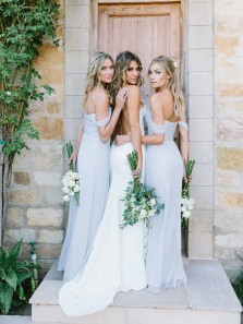 Elegant Baby Blue Off the Shoulder Slit Long Bridesmaid Dresses for Wedding Party Under 100 Custom