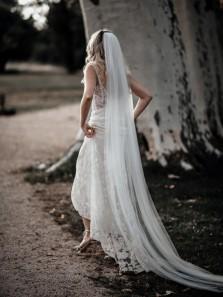 Gorgeous Mermaid Sweetheart Open Back White Lace Wedding Dresses
