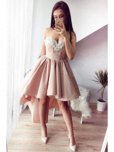 Sexy Lace Sweetheart Short Prom Dresses, Cheap Homecoming Dresses