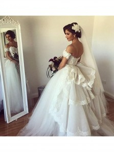 Gorgeous Sweetheart Long Wedding Dress Bridal Gown