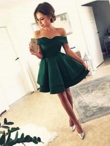 A-Line Off-Shoulder Sweet Heart Junior Short Homecoming Dress Evening Dress Under 100$