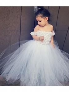 Cute A Line Sweetheart White Tulle Flower Girl Dress Under 100
