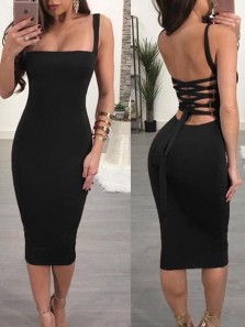 Simple Body con Low Cut Cross Back Burgundy Black Elastic Satin Evening Party Dresses,Sexy Prom Dresses Under 100 191129001