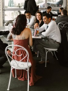 Simple A-Line V Neck Spaghetti Straps Chiffon Long Bridesmaid Dresses Under 100