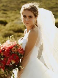 Ball Gown Sweetheart Strapless White Tulle Wedding Dresses