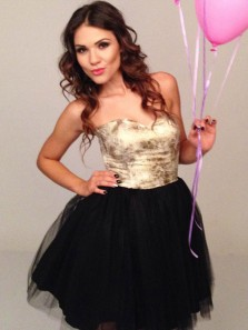 Modest A-Line Sweetheart Gold Sequins Short Homecoming Dresses,Short Prom Party Dresses DG0916003