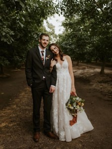 Exquisite A-Line V Neck Spaghetti Straps Cross Back White Lace Wedding Dresses