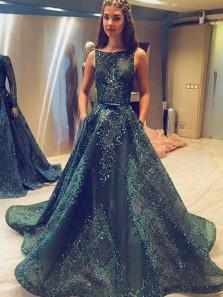 A Line Prom Dresses,Princess Prom Dresses,Long Prom Dress,Tulle Evening Dress,Hunter Green Prom Dresses,Long Formal Dresses