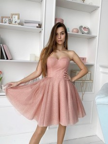 Cute A-Line Sweetheart Blush Sequins Short Homecoming Dresses