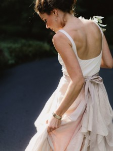 Boho A-Line White and Grey Wedding Dresses with Belt Bridal Dresses 2020